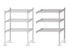 Paperflow Rang'Eco Starter - Rack à étagère - 5 étagères - acier - bleu - 70 cm