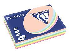 Clairefontaine Trophée - Papier couleur - A4 - 80 g/m² - 500 feuilles - 5 couleurs pastel