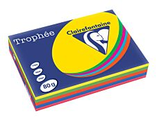 Clairefontaine Trophée - papier couleur - A4 - 80 g/m² - 500 feuilles - 5 couleurs intensives