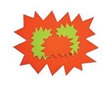 Apli Agipa - 10 éclatés fluo - 80 x 120 mm - jaune fluorescent. orange fluorescent