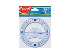 Maped Geometric - Rapporteur - Plastique - 12 cm - 360°