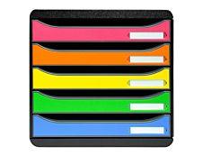 Exacompta BIG- BOX PLUS Classic - Bloc de classement 5 tiroirs - Arlequin