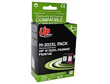 HP 302XL - remanufacturé UPrint H.302XL - Pack de 2 - noir, couleurs (cyan, magenta, jaune) - cartouche d'encre