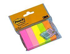 Marque-pages Post-it en papier - Couleurs néons - Lot 5 x 100