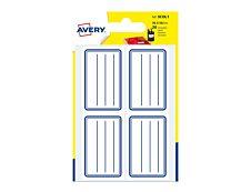 Avery - 20 Étiquettes Scolaires graduées - 36 x 56mm - lignes bleues