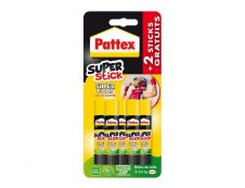 Pattex - 4 Bâtons de colle  + 1 offert - Blanche - 11 gr