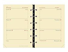 Quo Vadis Timer 14 - recharge pour organiseur - semainier 16 mois - à l'horizontal