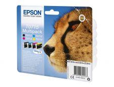 Epson T0715 Guépard - Pack de 4 - noir, cyan, magenta, jaune - original - cartouche d'encre