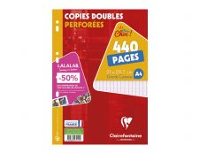 Clairefontaine - A4 - Copies doubles - 21 x 29,7 - 440 pages - Grands carreaux