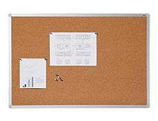 DAHLE - Tableau d'affichage en liège naturel  7 mm - cadre aluminium 45x60 cm