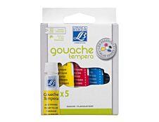 Lefranc & Bourgeois Les Essentiels Value Series - 5 tubes de peinture - peinture tempéra à base d'eau - 10 ml