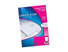Office Star - 100 étiquettes blanches Multi-usages - 210 x 297mm