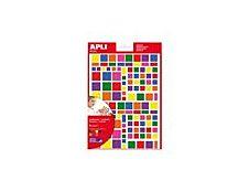 APLI kids - Adhésif décoratif - 664 gommettes -  triangles - couleurs assorties