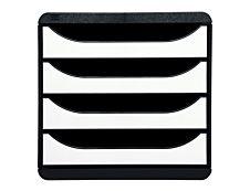 Exacompta BIG-BOX Classic - Bloc de classement 4 tiroirs - Blanc brillant