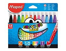 Maped Color'Peps Maxi - 12 Feutres - Pointe large