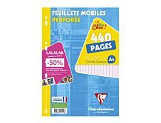 Clairefontaine - A4 - Feuillets mobiles - 21 x 29,7 - 440 pages - Grands carreaux