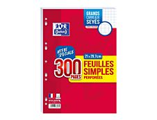Oxford School - Feuillets mobiles - A4 - 300 pages - Grands carreaux