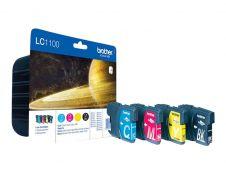 Brother LC1100 - Pack de 4 - noir, cyan, magenta, jaune - cartouche d'encre originale