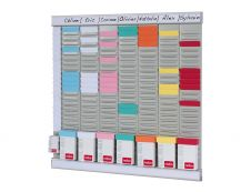 Nobo - Planning à Fiches en T - hebdomadaire - 480 x 480 mm