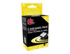 Canon G-545XL/CL-546XL - remanufacturé UPrint C.545/546XL - pack de 2 - BK+CMY - cartouche d'encre