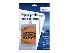 Avery - 25 Feuilles de Papier Photo 200g/m² A4 - Impression Jet d'encre - Brillant