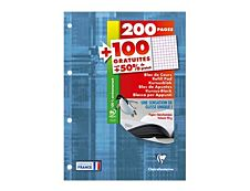Clairefontaine - Bloc-notes - A4 - 300 pages - petits carreaux