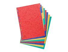 Exacompta Nature Future - Intercalaire - 8 positions - A4 - couleurs tachetées assorties