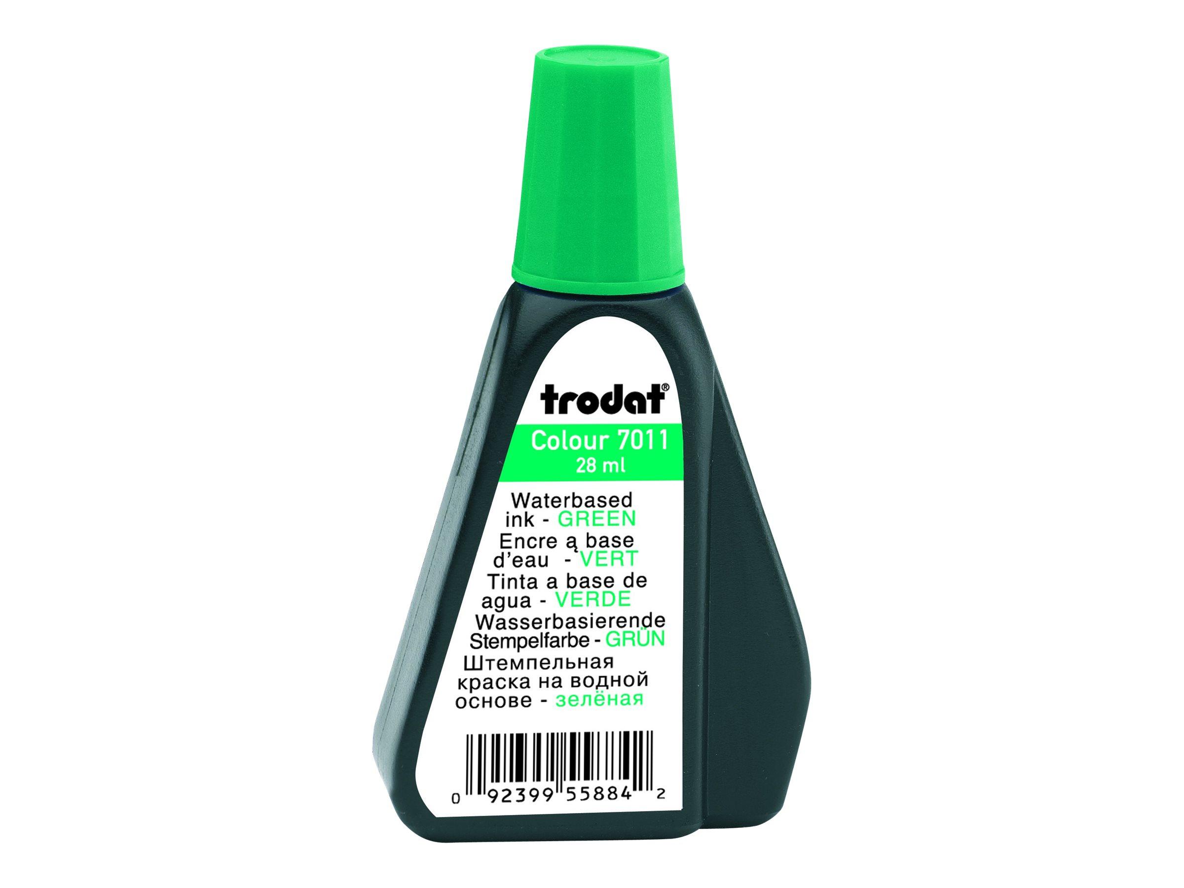 Trodat - Encre pour tampon - vert - 28 ml