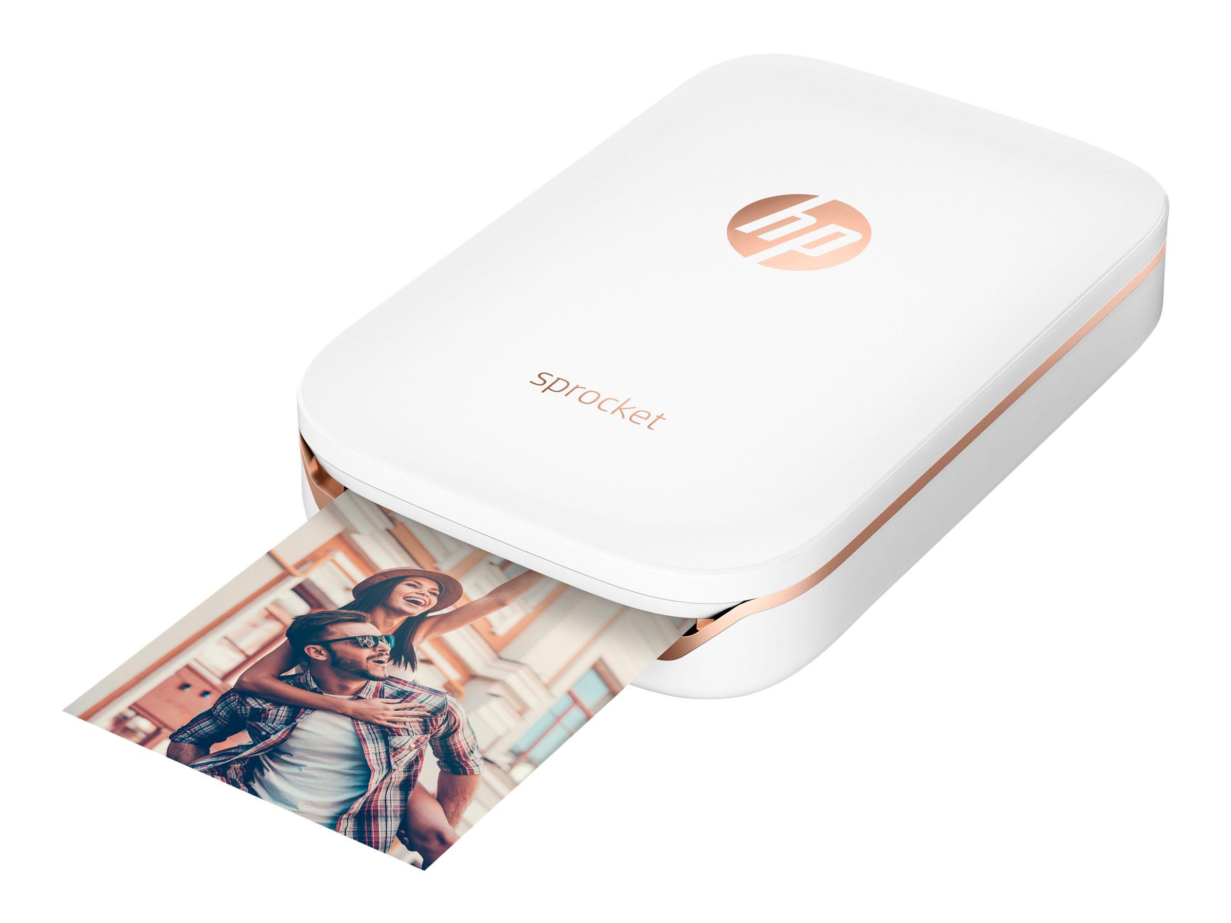 HP Sprocket Photo - imprimante - couleur - zinc - avec Papier photo HP ZINK Sticky-Backed (10 feuilles)
