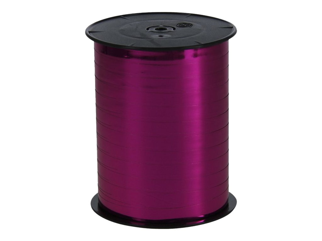 Maildor - Bolduc métallisé - ruban d'emballage 7 mm x 250 m - cyclamen