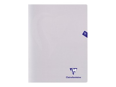 Clairefontaine Mimesys - Cahier polypro 24 x 32 cm - 96 pages - petits carreaux (5x5 mm) - transparent