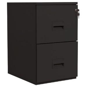 Classeur 2 tiroirs pour dossiers suspendus - 68 x 42 x 54 cm - noir