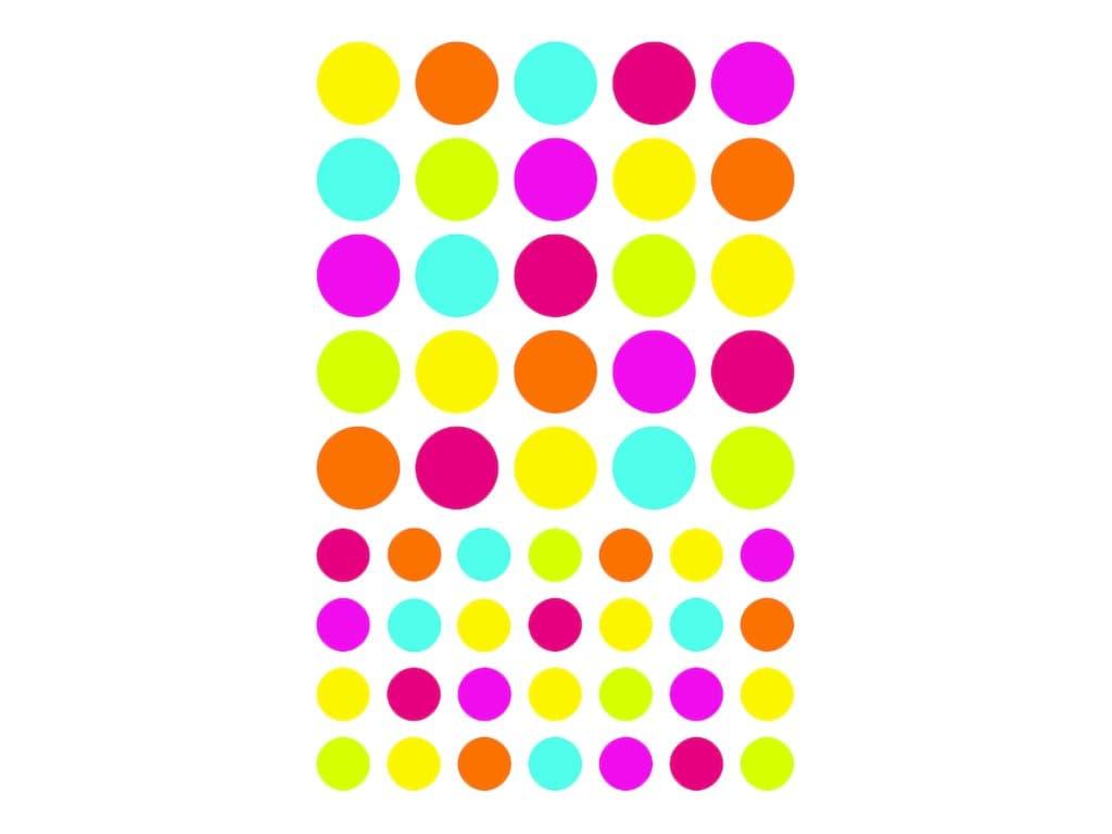 Maildor - 4 feuilles gommettes rond - coloris assortis