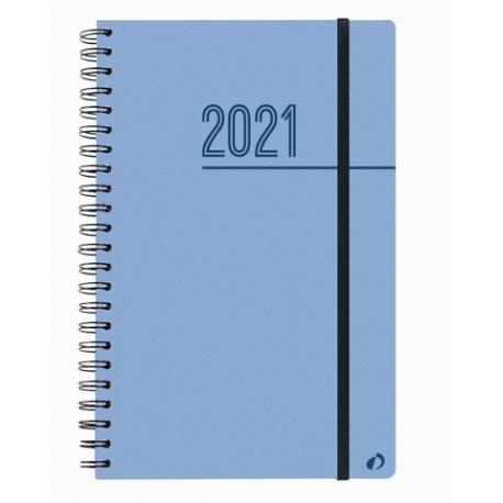 Oslo - Agenda spiralé à élastique - 1 semaine sur 2 pages - 16 x 24 cm - disponible dans différentes couleurs - Quo Vadis