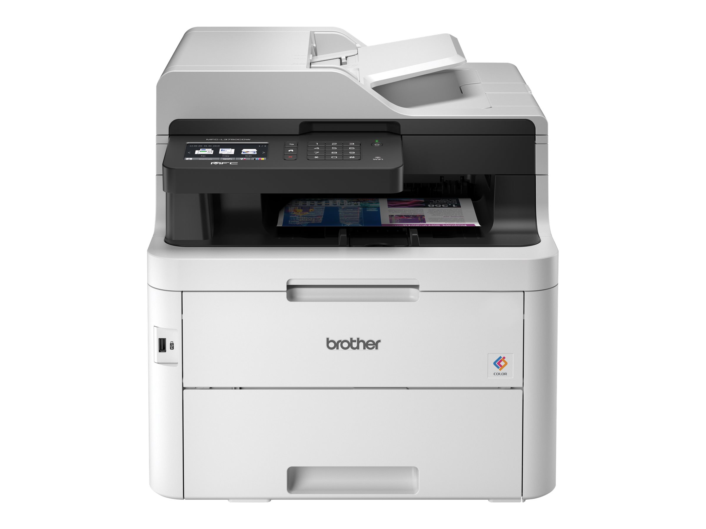 Brother MFC-L3750CDW - imprimante laser multifonction couleur A4 - recto-verso - Wifi