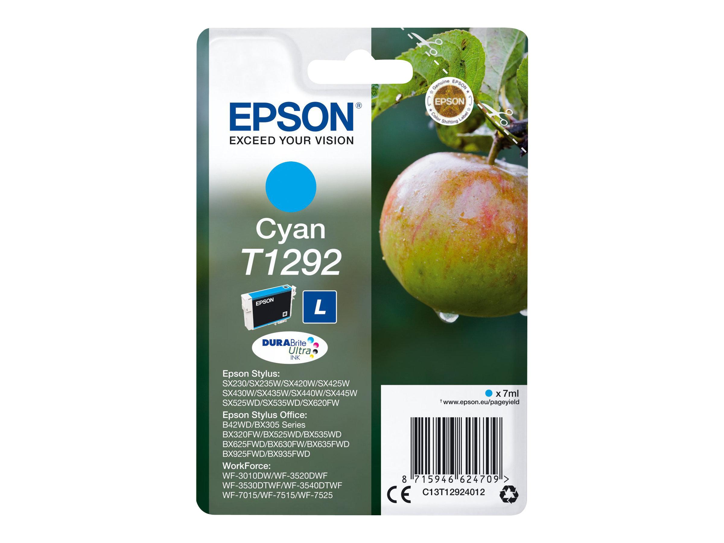 Epson T1292 Pomme - cyan - cartouche d'encre originale