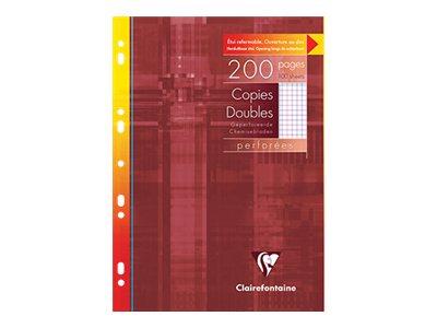 Clairefontaine - 200 copies doubles A4 - petits carreaux avec marge - perforées
