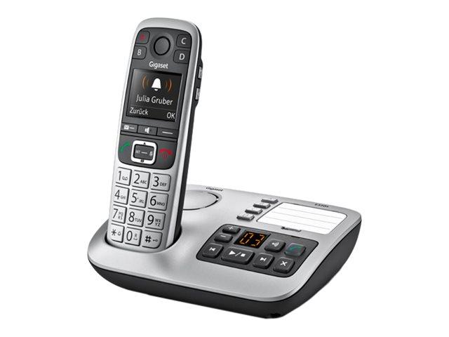 Gigaset E560A - téléphone sans fil - avec répondeur - argent