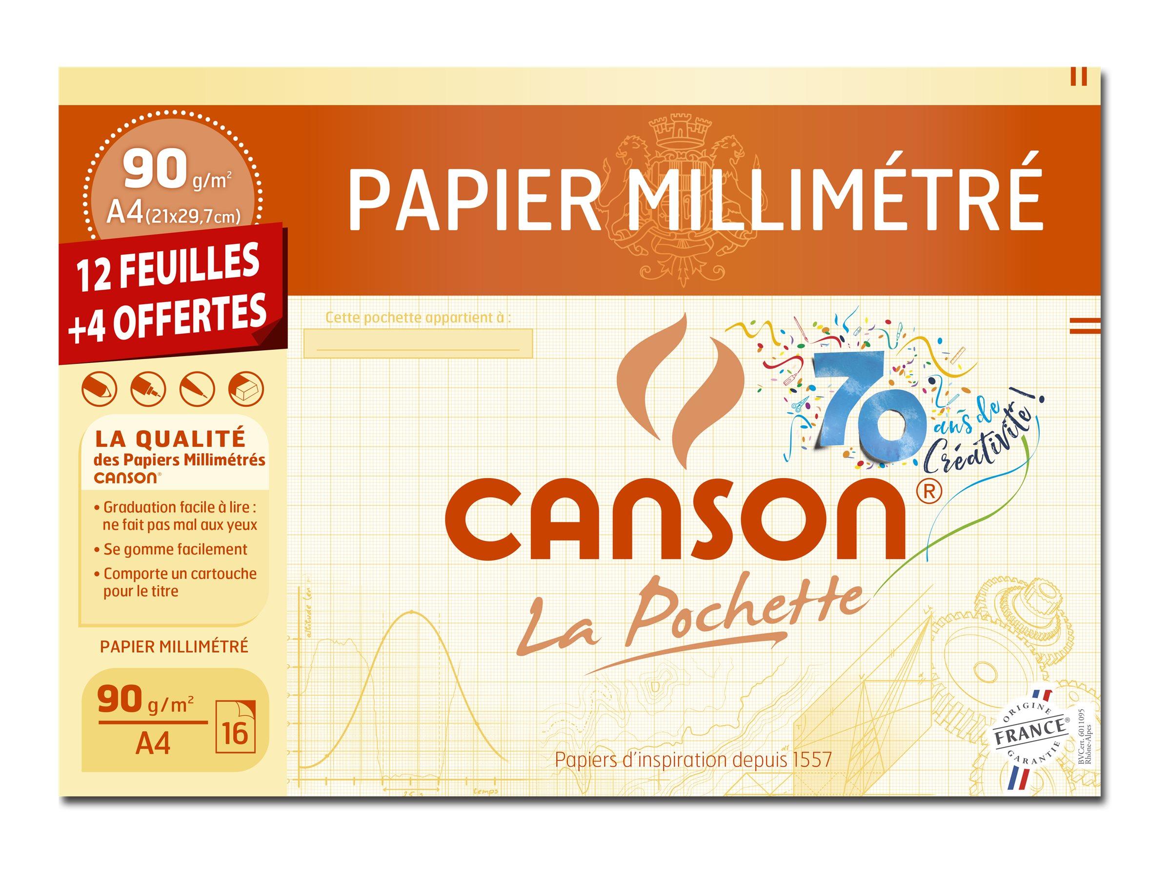 CANSON La Pochette millimétré - papier millimétré