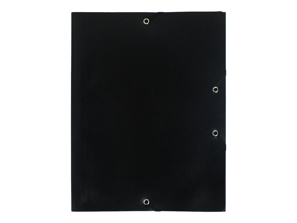 Exacompta - Chemise polypro à rabats - A4 - pour 150 feuilles - noir opaque