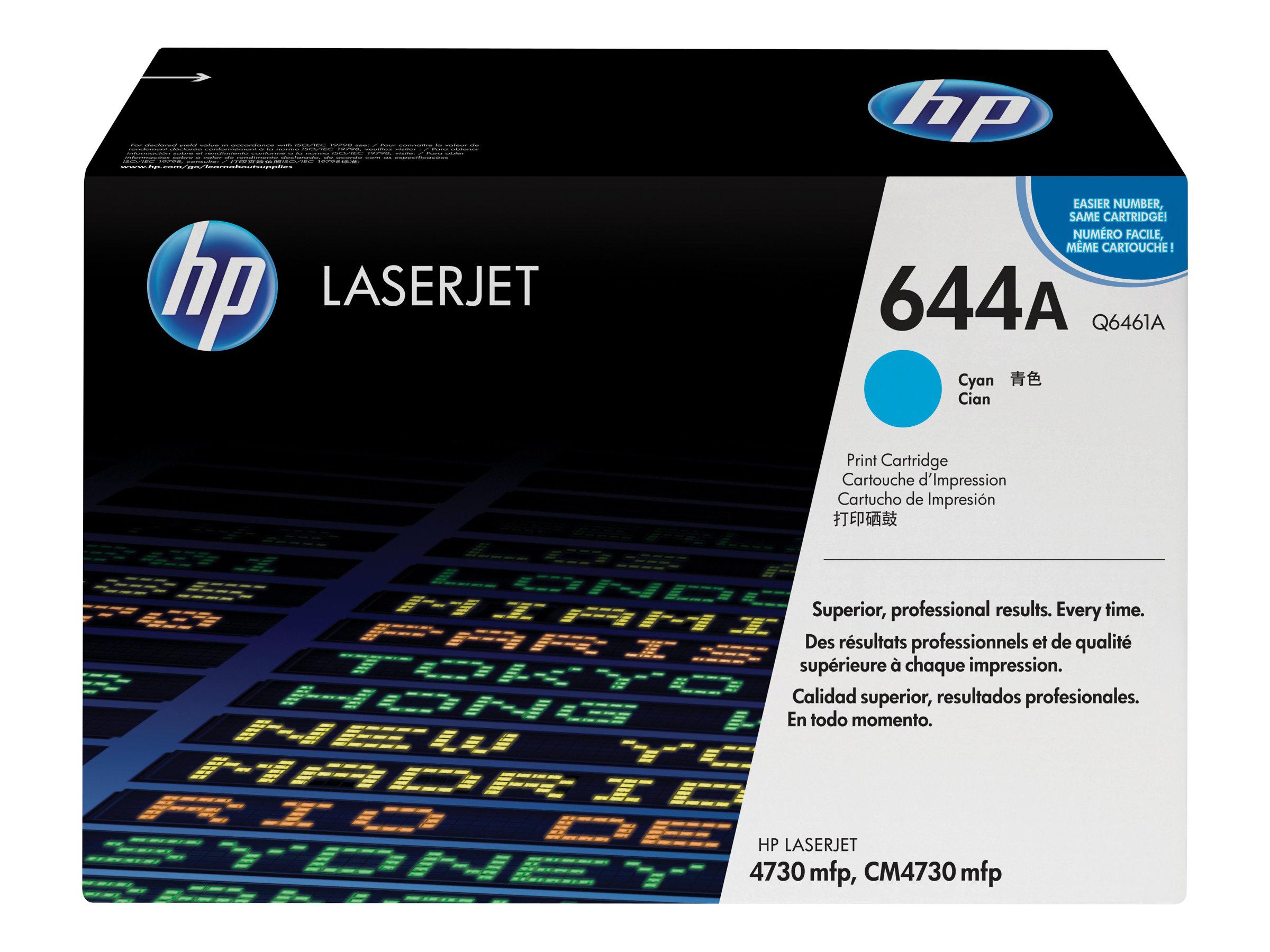 HP 644A - cyan - original - cartouche laser