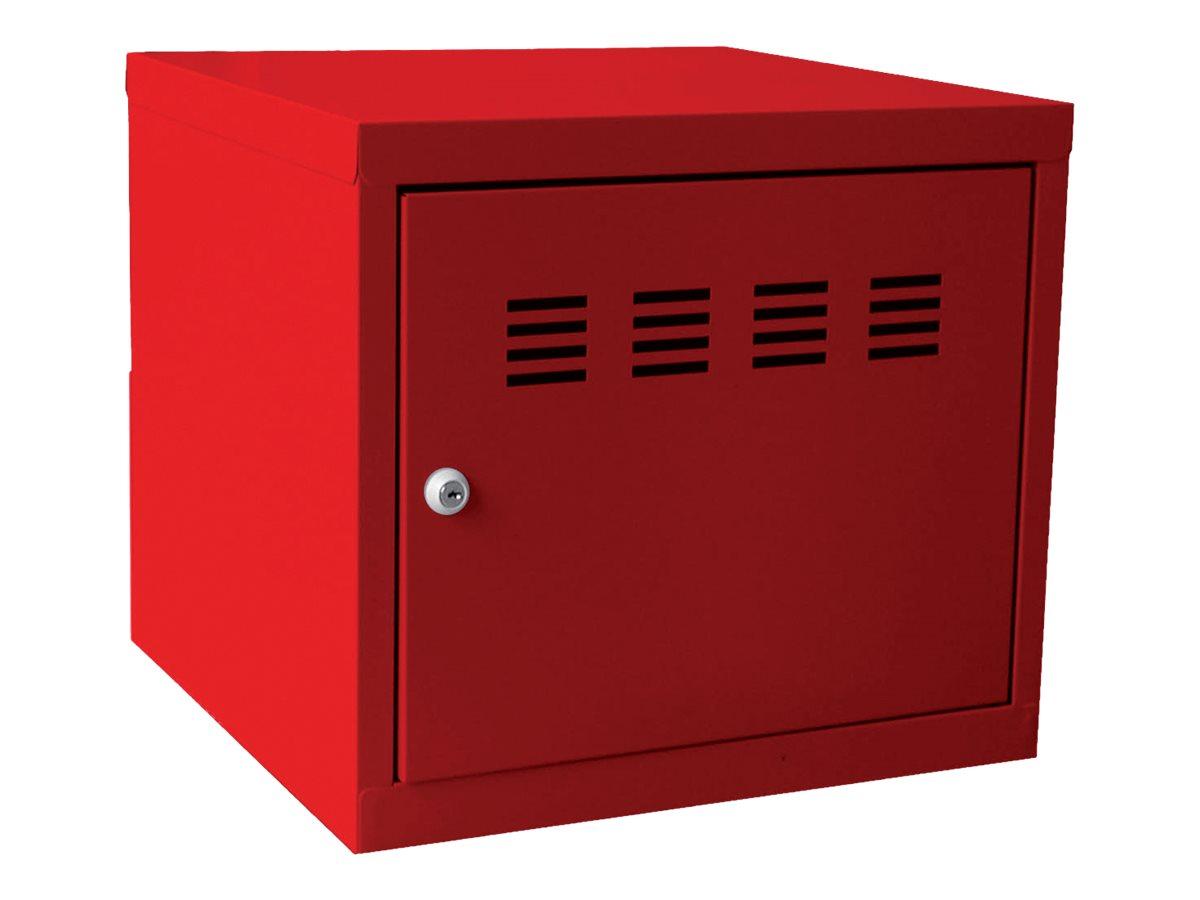 Casier cube / Vestiaire - 36 x 40 x 40 cm - rouge