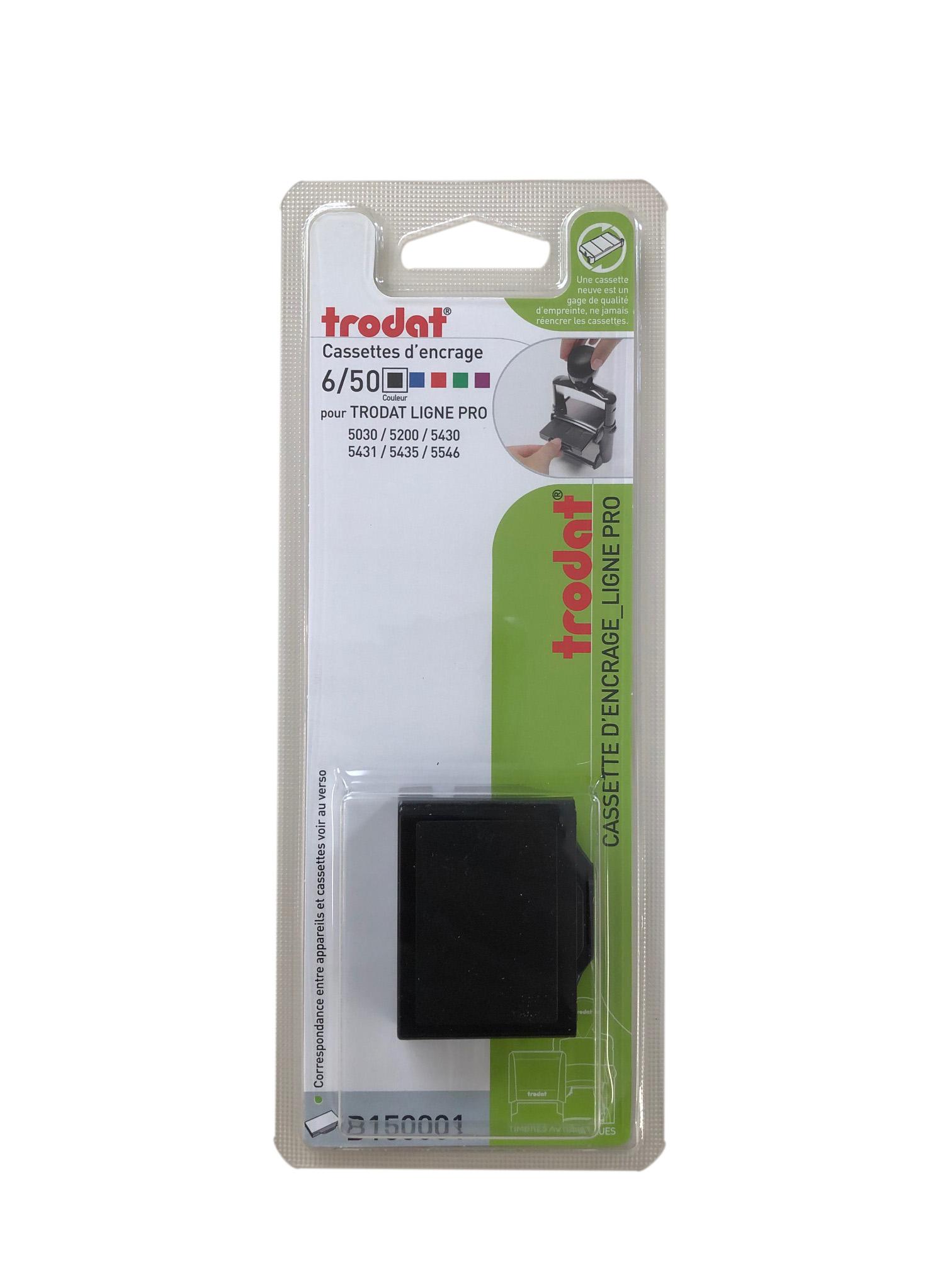 Trodat - Encrier 6/50 recharge pour tampon 5030/5200/5430 - noir