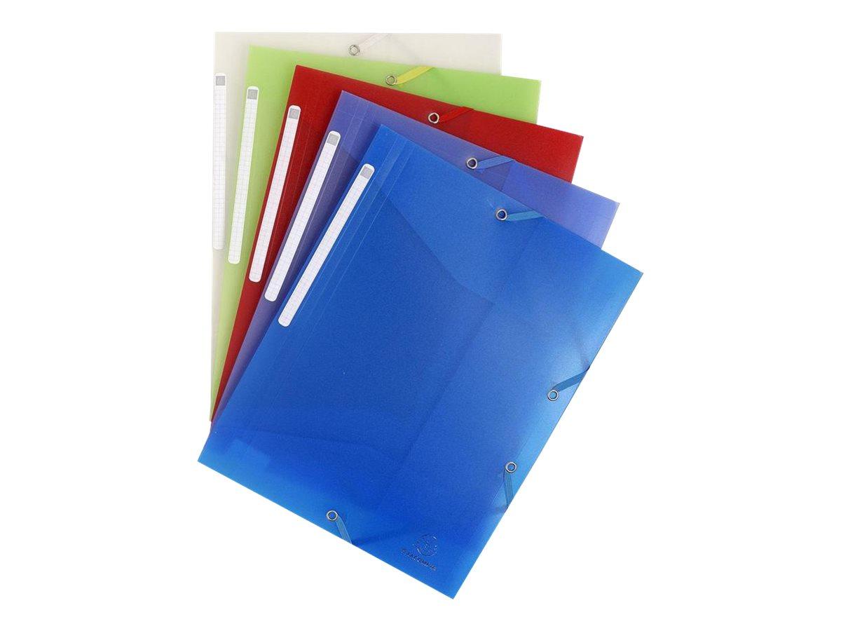 Exacompta Chromaline - Chemise polypro à rabats - A4 - pour 200 feuilles - disponible dans différentes couleurs