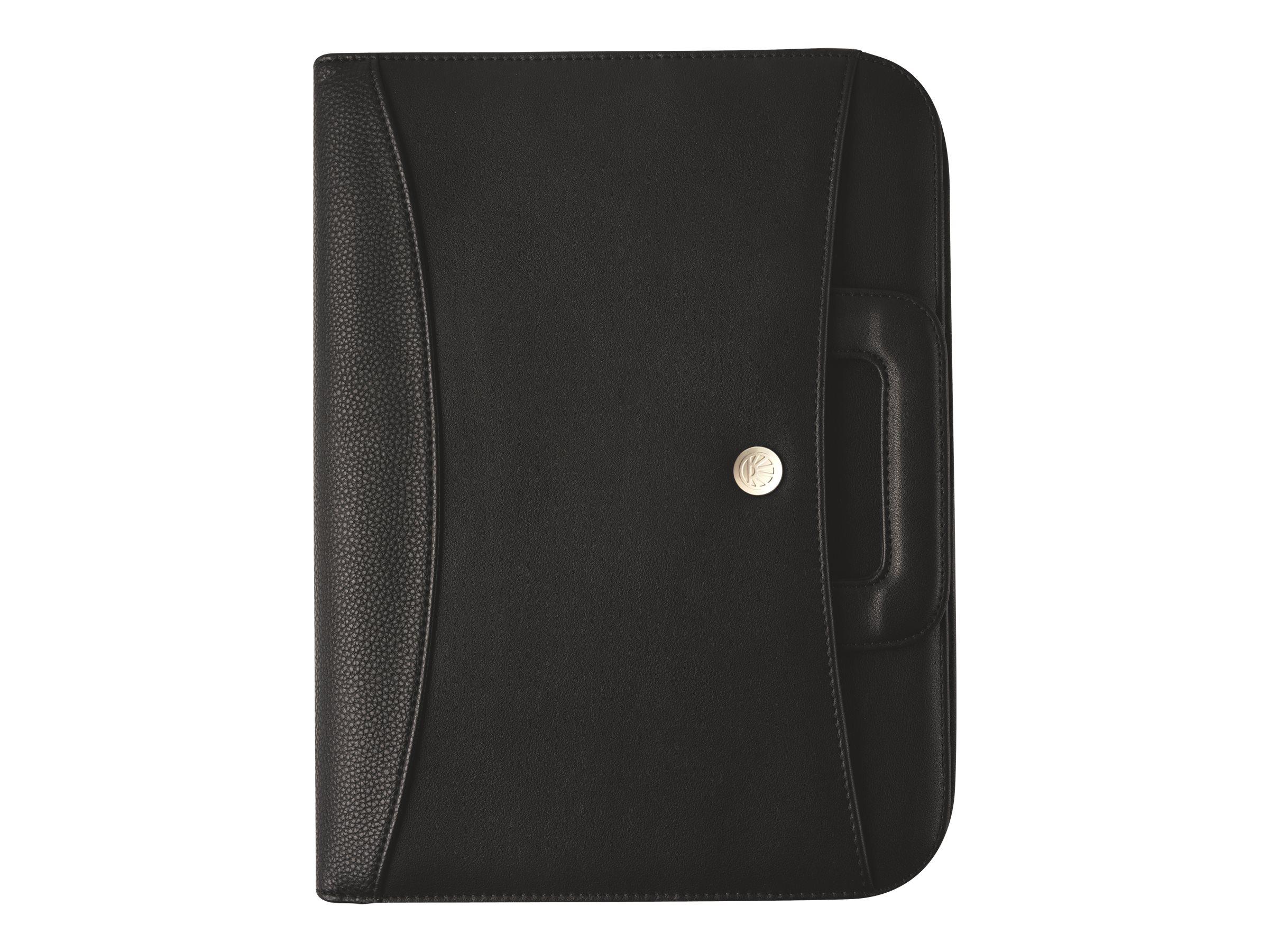 Oberthur Harlem - Conférencier A4 zippé, à poignées - noir