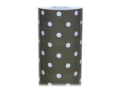 Clairefontaine Excellia - Papier cadeau - 70 cm x 50 m - 80 g/m² - pois fond taupe