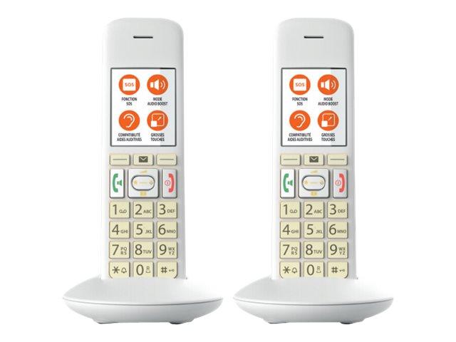 Gigaset E370A Duo - téléphone sans fil - système de répondeur avec ID d'appelant + combiné supplémentaire