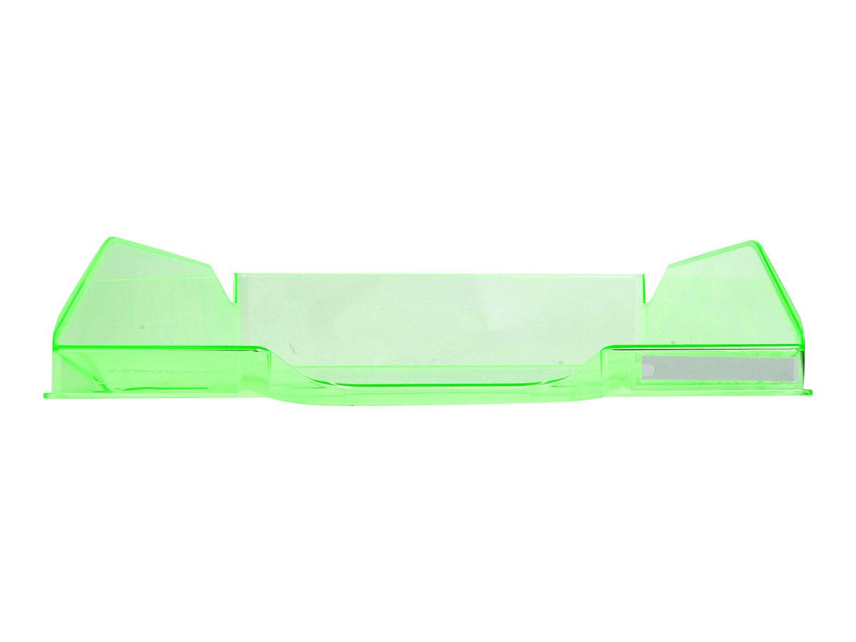 Exacompta COMBO Glossy - Corbeille à courrier vert pomme translucide