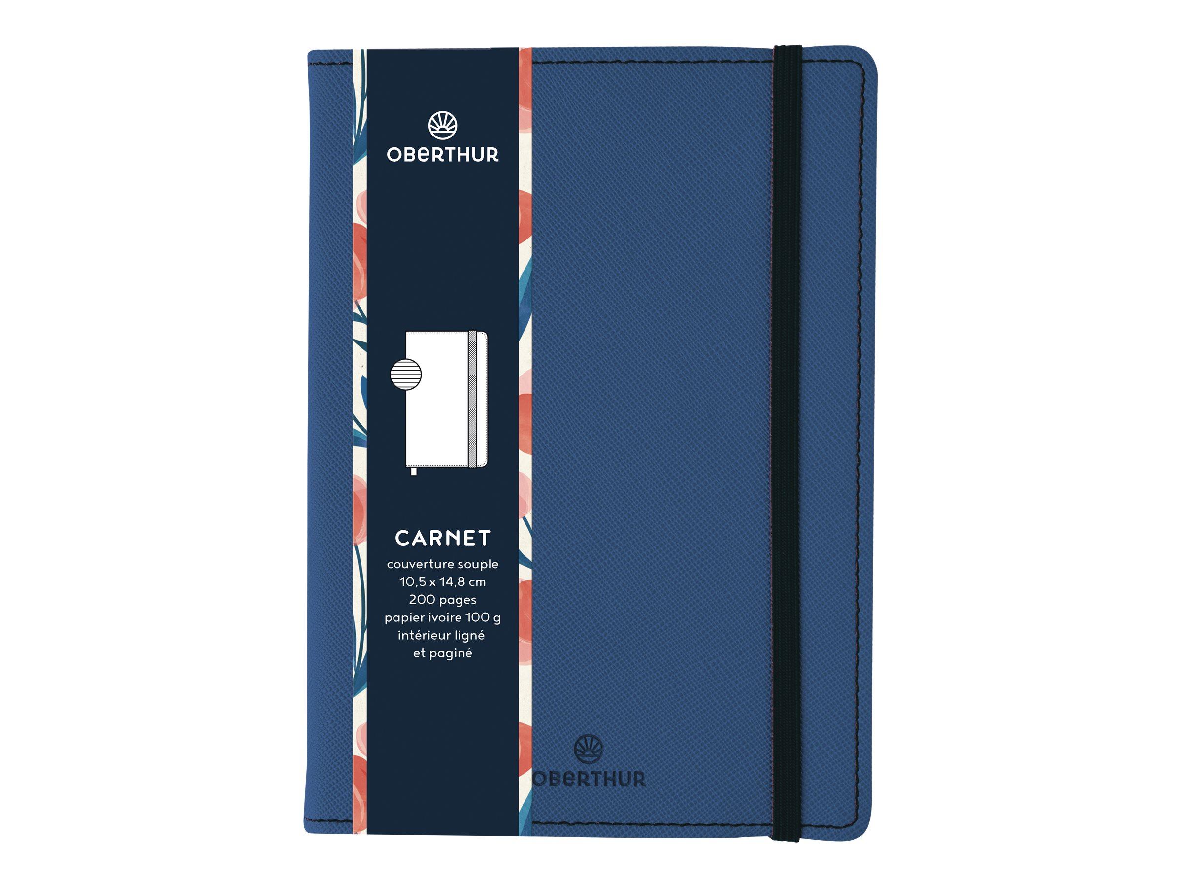 Oberthur Carmen - Carnet de notes A6 - bleu azur
