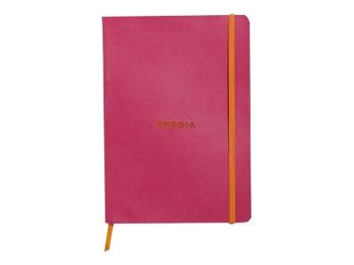 Rhodia Rhodiarama - Carnet souple A5 - 160 pages - pointillés - framboise